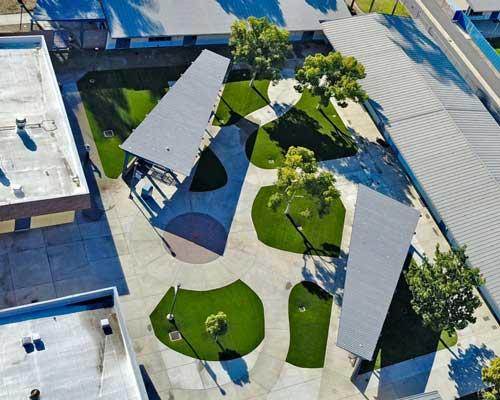 artificial grass at school