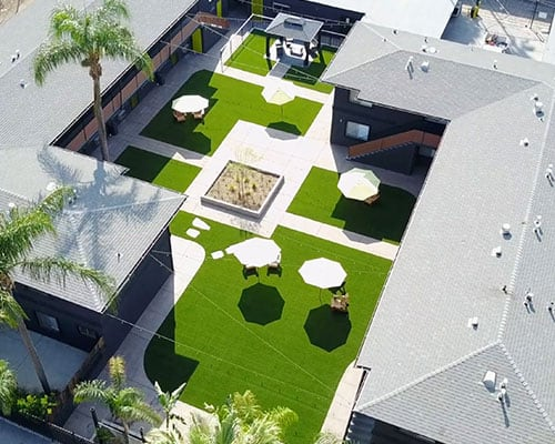 artificial turf at apartments
